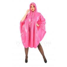 KLEMARO PVC Plastik - Poncho Regenponcho geschlossen CA14 MAS1 Pink Rosa glänzend - Auf Lager