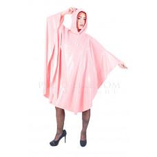 KLEMARO PVC Plastik - Poncho Regenponcho geschlossen CA14 PIM1 Pink Rosa matt - Auf Lager