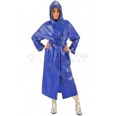 KLEMARO PVC Plastik - Mantel Regenmantel Folienmantel RA79ms BLS1 Royalblau M - Auf Lager