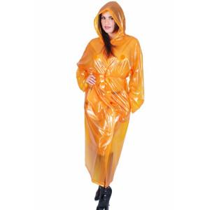 KLEMARO PVC Plastik - Mantel Regenmantel RA79ms ORT1 XXL Orange halbtransparent - Auf Lager