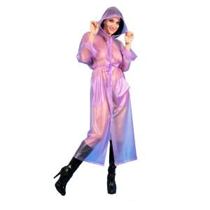 KLEMARO PVC Plastik - Mantel Regenmantel Folienmantel RA79ms VIT1 Violet halbtransparent XL - Auf Lager