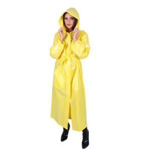 KLEMARO PVC Plastik - Mantel Regenmantel RA79ms YES1 L Gelb glänzend - Auf Lager