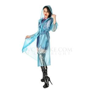 KLEMARO PVC Plastik - Mantel Regenmantel Folienmantel Plastikregenmantel RA97 STYLISH RAINCOAT