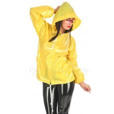 KLEMARO PVC Plastik - Jacke Regenjacke 70er-Style Damen JA17 JELLY COAT