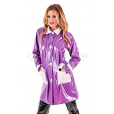 KLEMARO PVC Plastik - Damen Jacke Plastikregenjacke Kurzmantel RA70 MOD JACKET
